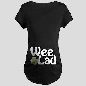 Wee Lad Shamrock Maternity Dark T-Shirt