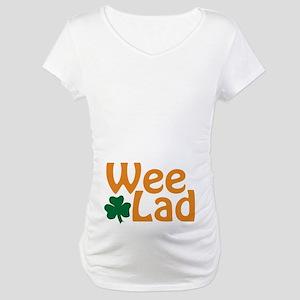Wee Lad Shamrock Maternity T-Shirt