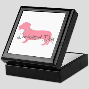 Diamonds Dachshund Diva Keepsake Box