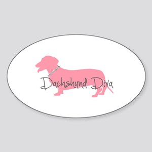Diamonds Dachshund Diva Sticker (Oval)