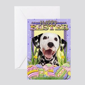 Easter Egg Cookies - Dalmatian Greeting Card