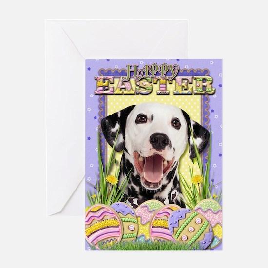 Easter Egg Cookies - Dalmatian Greeting Card
