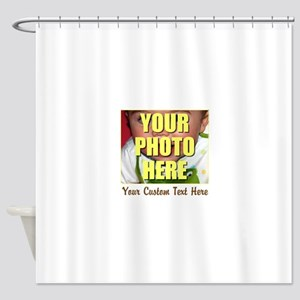 Custom Photo and Text Shower Curtain