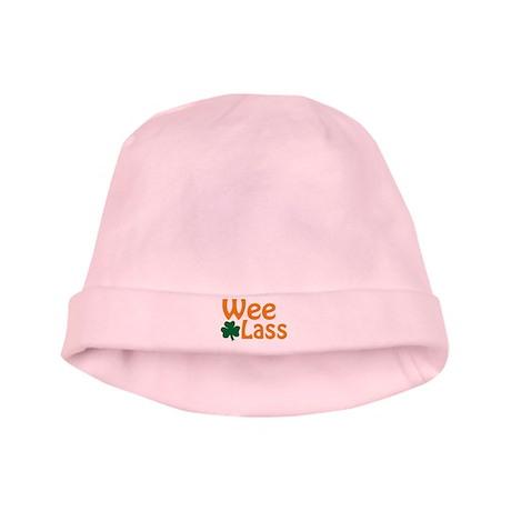 Wee Lass Shamrock baby hat