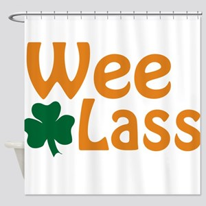 Wee Lass Shamrock Shower Curtain