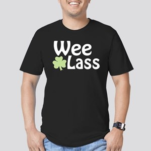 Wee Lass Shamrock Men's Fitted T-Shirt (dark)