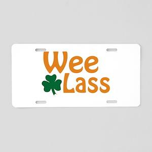 Wee Lass Shamrock Aluminum License Plate