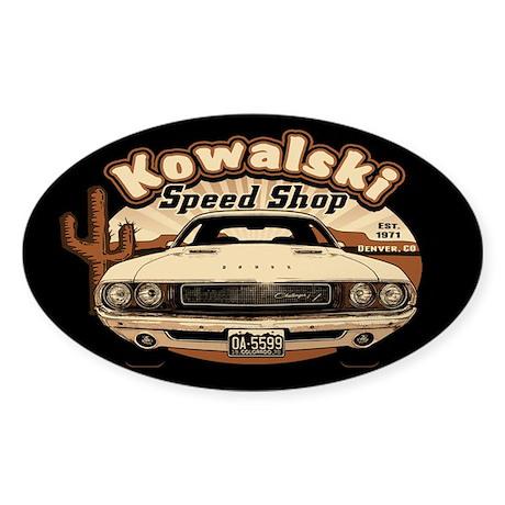 Kowalski Speed Shop Sticker (Oval)