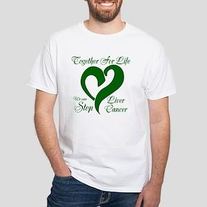 Stop Liver Cancer White T-Shirt