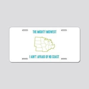 the Mighty Midwest Aluminum License Plate