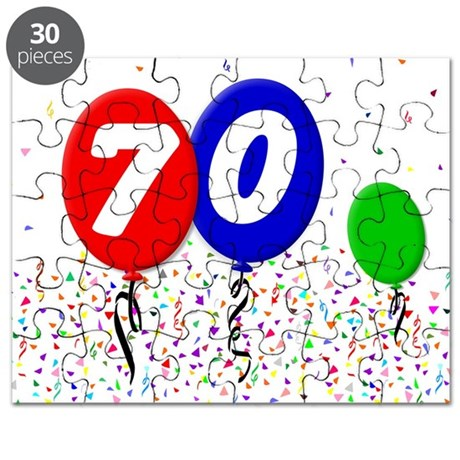 70th Birthday Puzzle