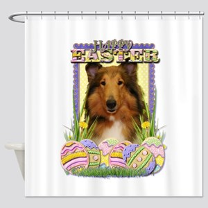 Easter Egg Cookies - Corgi Shower Curtain