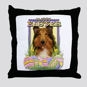Easter Egg Cookies - Corgi Throw Pillow