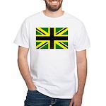 Black Union Jack White T-Shirt