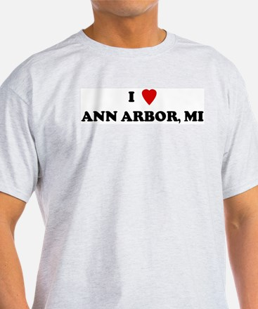 I Love Ann Arbor Ash Grey T-Shirt