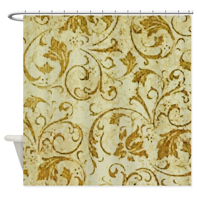 antique swirls shower curtain by artegrity 87973