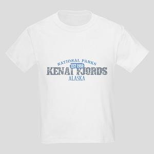 Kenai Fjords National Park AK Kids Light T-Shirt