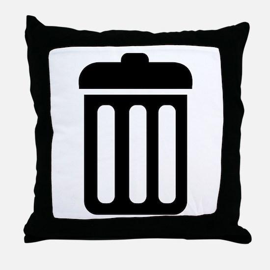 Trash bin Throw Pillow