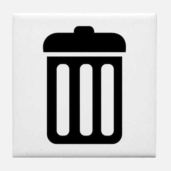 Trash bin Tile Coaster