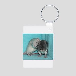 RC's Its Alright Rats Aluminum Photo Keychain
