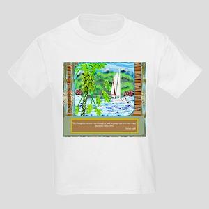 Kids Light T-Shirt Sailing Thoughts & Papaya T
