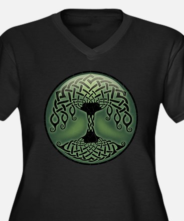 Cup of Green Women's Plus Size V-Neck Dark T-Shirt
