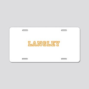 Langley Aluminum License Plate