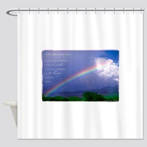 Rainbow Blessing Shower Curtain