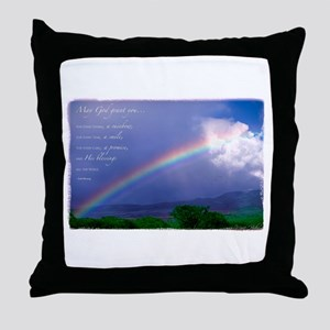 Rainbow Blessing Throw Pillow