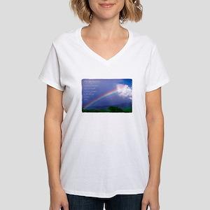 Rainbow Blessing Women's V-Neck T-Shirt