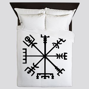 Viking Compass : Vegvisir Queen Duvet
