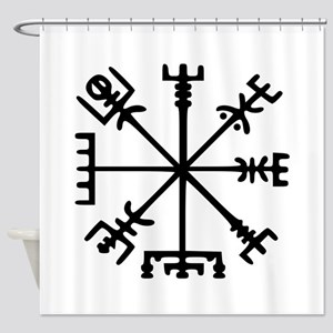 Viking Compass : Vegvisir Shower Curtain