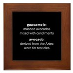 Guacamole Testicles Framed Tile