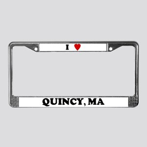 I Love Quincy License Plate Frame
