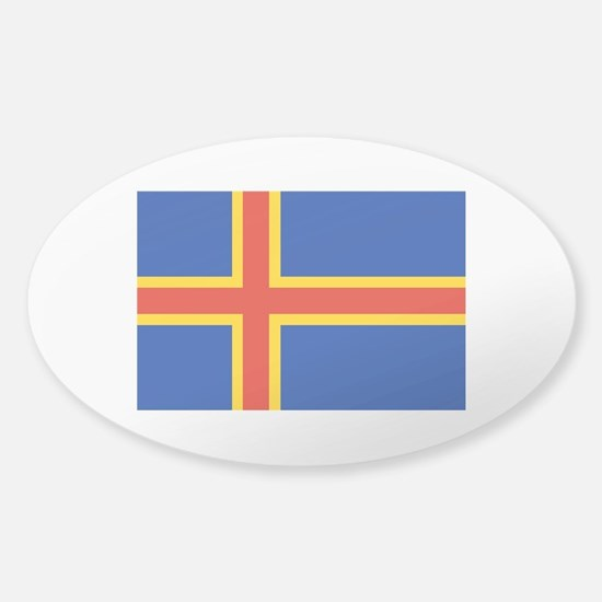 Aaland Islands Sticker (Oval)