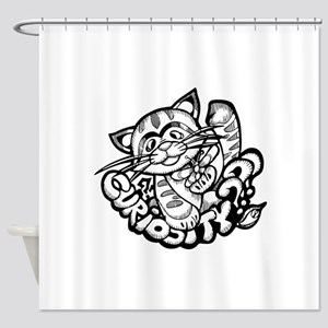 Curiosity Cat Shower Curtain