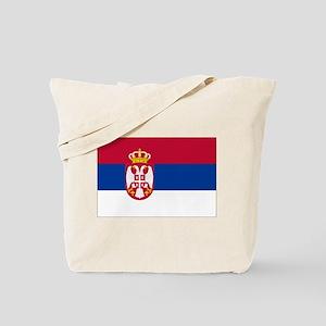 Serbia State Flag Tote Bag
