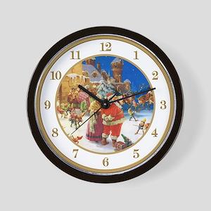 North Pole Christmas Eve Wall Clock