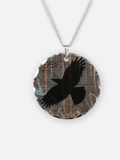 Street Art Crow Necklace