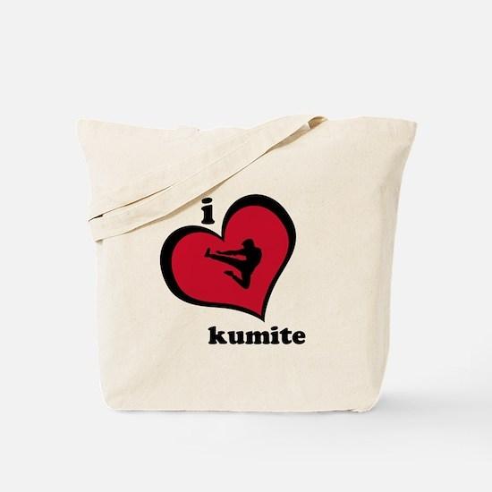 I Love Kumite Karate Gear - Tote Bag