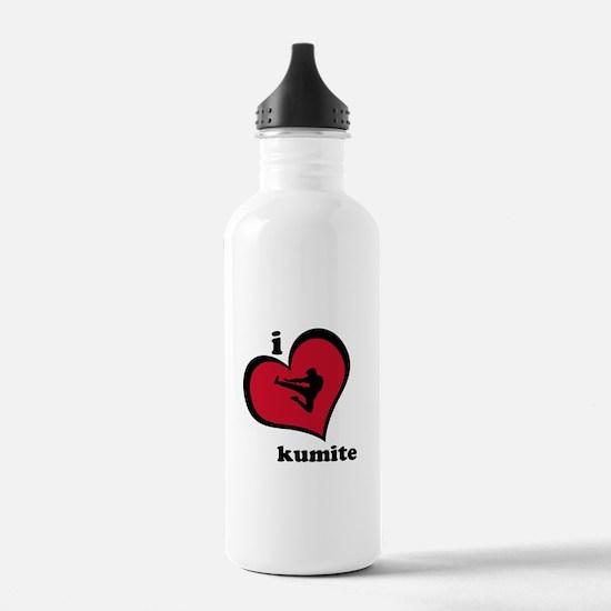 I Love Kumite Karate Gear - Water Bottle