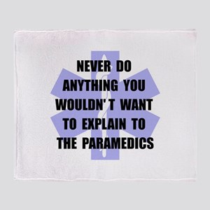 Paramedics Throw Blanket