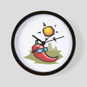 Chillin' Chili Pepper Wall Clock