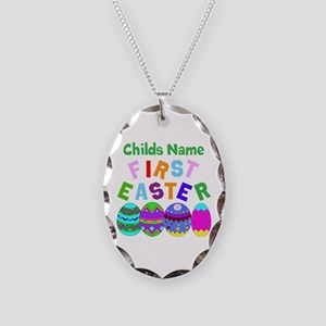 First Easter Necklace Oval Charm