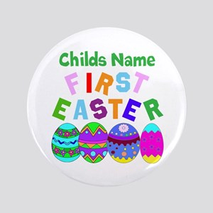 "First Easter 3.5"" Button"
