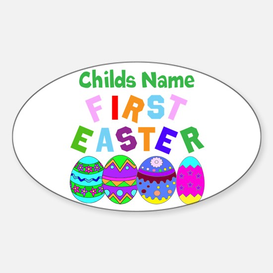 First Easter Sticker (Oval)