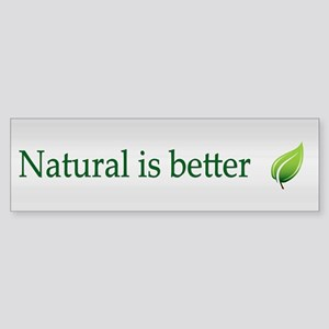 Natural ~ Sticker (Bumper)