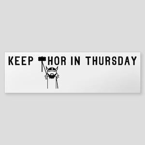 Keep Thor In Thursday Sticker (Bumper)