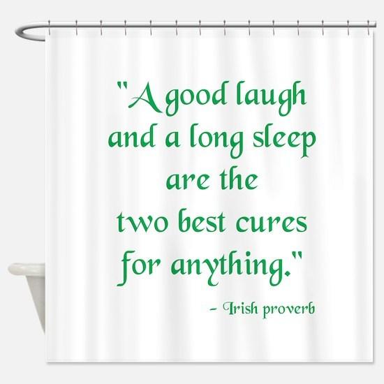 Irish Proverb Shower Curtain