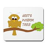 Hoot's Wisdom Tree Mousepad
